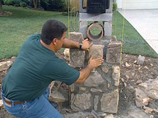 How To Set Stones For A Stone Column Mailbox How tos DIY