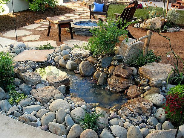 Diy water feature ideas projects diy for Homemade pond ideas