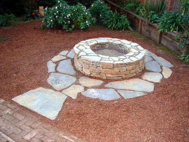 diy fire pit casual cottage