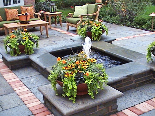 water feature patio